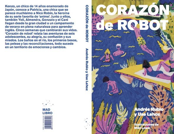 Cubierta del libro 'Corazón de robot' de Andrés Rubio y Use Lahoz ilustrado por Miki Lowe.