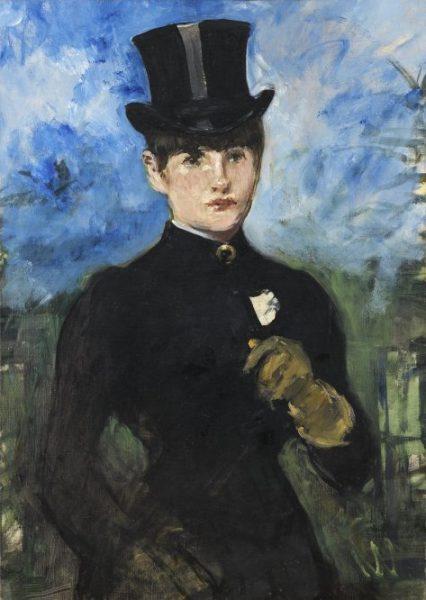 Édouard Manet. 'Amazona de frente'.