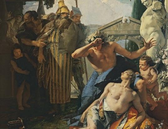 Detalle del cuadro de Giambattista Tiepolo. 'La muerte de Jacinto', c. 1752-1753.