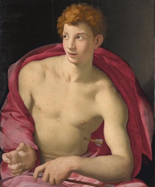 Bronzino (Agnolo di Cosimo di Mariano). 'San Sebastián'.