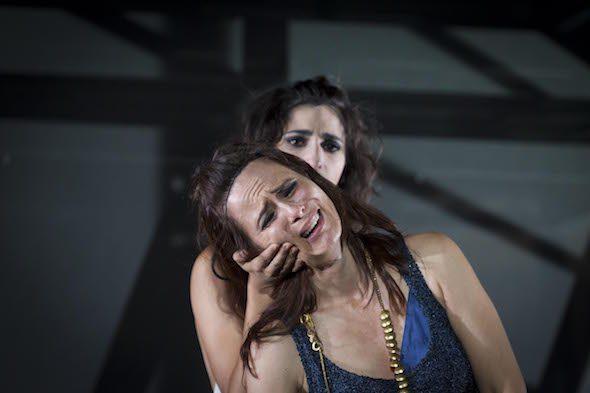 La actriz Aitana Sánchez Gijón protagoniza Las Troyanas en el Festival de Teatro Clásico de Mérida. Foto: Jero Morales