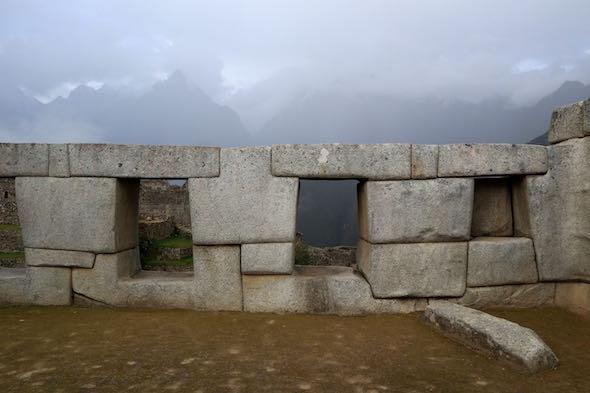 Ejemplo de construcción en la ciudad de Machu Picchu.
