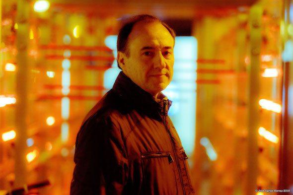 El dj y especialista en electrónica Andrés Noarbe. Foto: José Carlos Nievas.