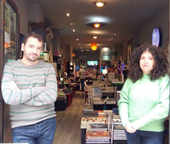 Cristina Sanmamed y Álvaro Muñoz regentan la librería La puerta de Tannhäuser.