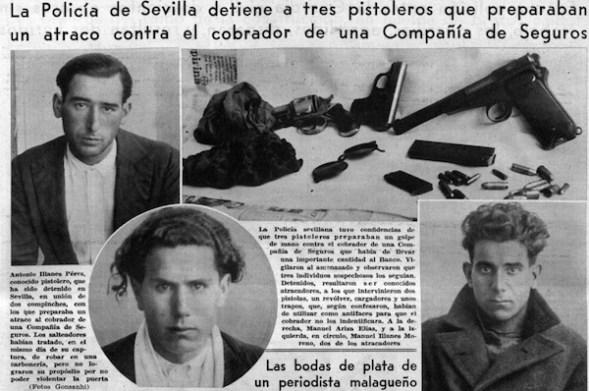 Banda de atracadores. Publidado en el Ahora en marzo de 1934.