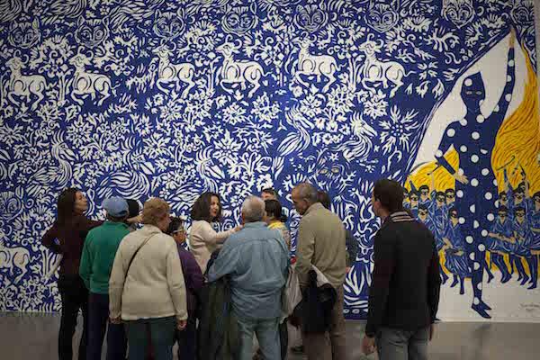 Visita a la exposición de Marcel Dzama.