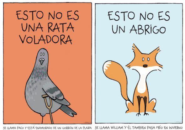 Ilustraciones de Joaquín Secall para la agenda de 2018 que ha editado la organización animalista 'Capital Animal'.