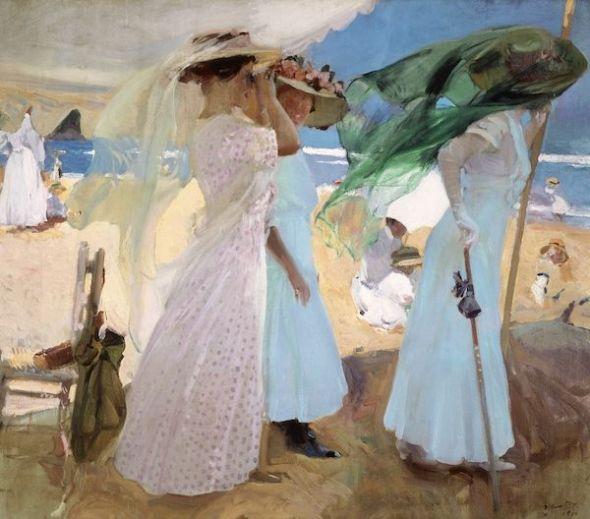 Bajo el toldo, Zarautz, 1910. Saint Louis Art Museum.