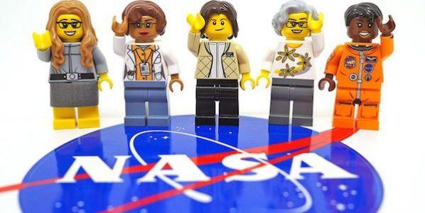 Figuras que LEGO dedicó a las mujeres de la NASA.