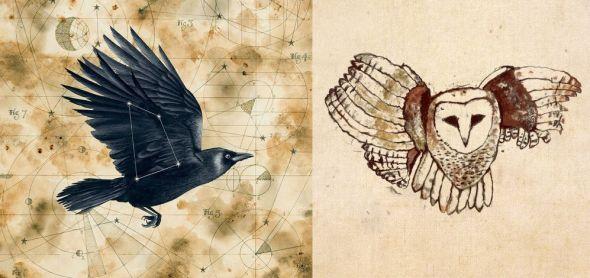 A la izquierda, portada de disco de Grimspound. A la derecha, portada de The soul jacket.