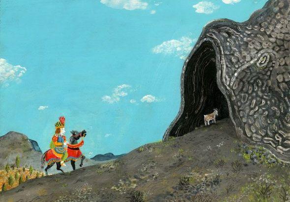 Ilustración para el libro 'Don Fermín' de Manuel Marsol.
