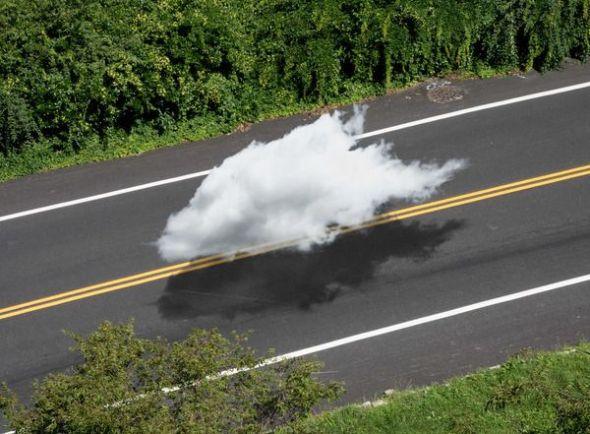 Una de las creaciones sobre nubes de la fotógrafa Kanghee Kim