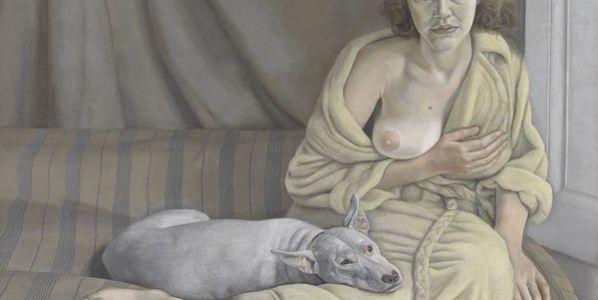 Lucian Freud, Chica con perro blanco 1950-1 © Tate