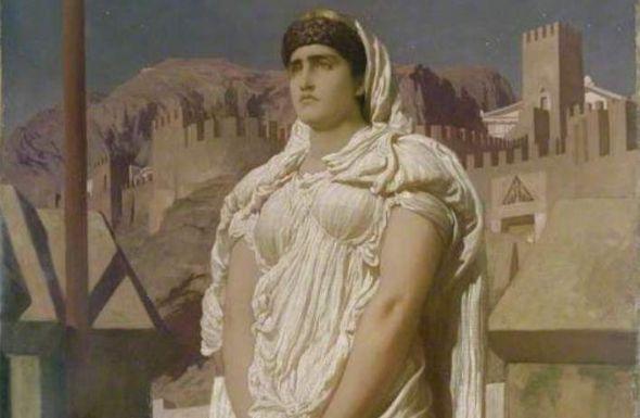 Frederic Leighton, 1830-1896. Clitemnestra.