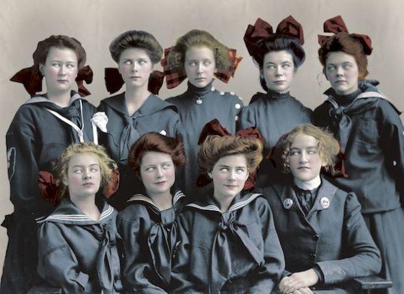 Detalle de la portada de 'Damas oscuras', libro de relatos de varias autoras editado por Impedimenta.