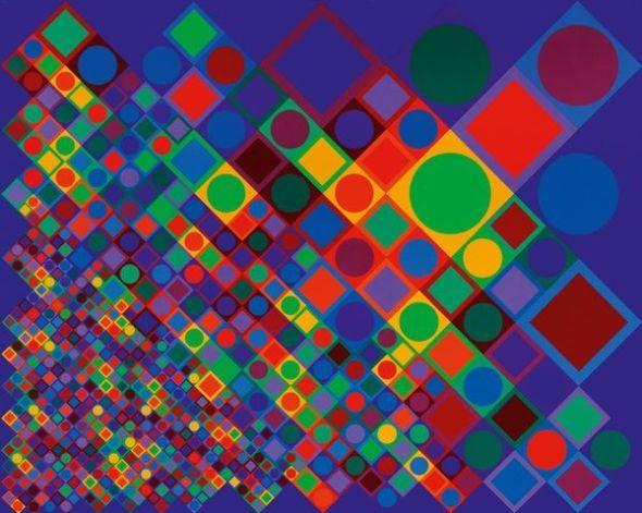 Victor Vasarely. 'Marsan-2'. 1964-1974. Vasarely Múzeum, Budapest. Victor Vasarely, VEGAP. Madrid, 2018.