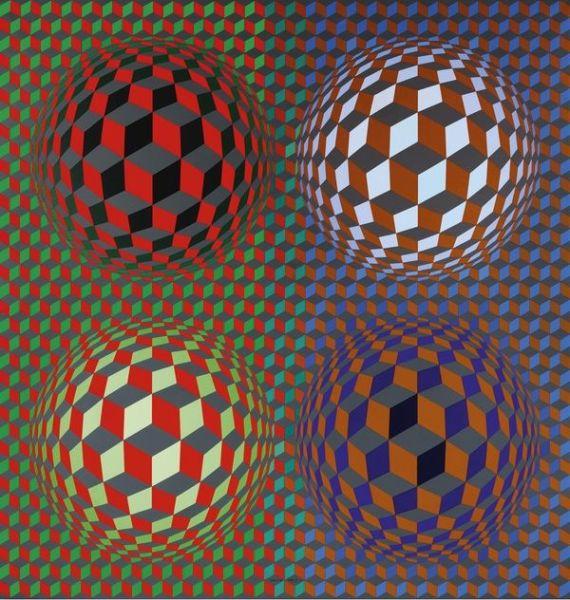 Victor Vasarely. 'Stri_Oet' 1979. Vasarely Múzeum. Budapest. Victor Vasarely, VEGAP. Madrid, 2018.