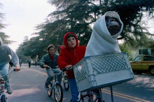 Las bicicletas en 'E.T, el extraterrestre'