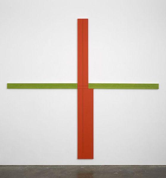 Robert Mangold. Red/Green+Whitin+Painting, 1982. Foto: Cortesía del artista y Centro de Artes Visuales Fundación Helga de Alvear Cáceres.