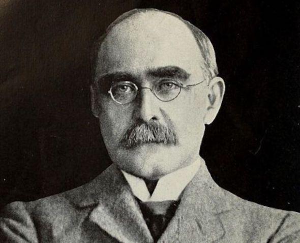 El escritor Rudyard Kipling.