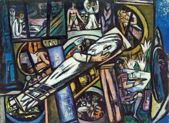 Max Beckmann Camarotes, 1948 (Cabins) Óleo sobre lienzo. 139,5 x 190 cm Kunstsammlung Nordrhein-Westfalen, Düsseldorf