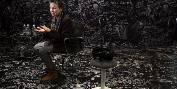 Laurie Anderson presenta 'Chalkroom' en le Espacio Fundación Telefónica.