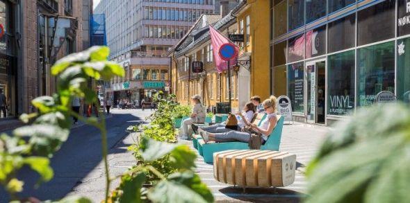 Una calle de Oslo. Foto: VisitOslo.