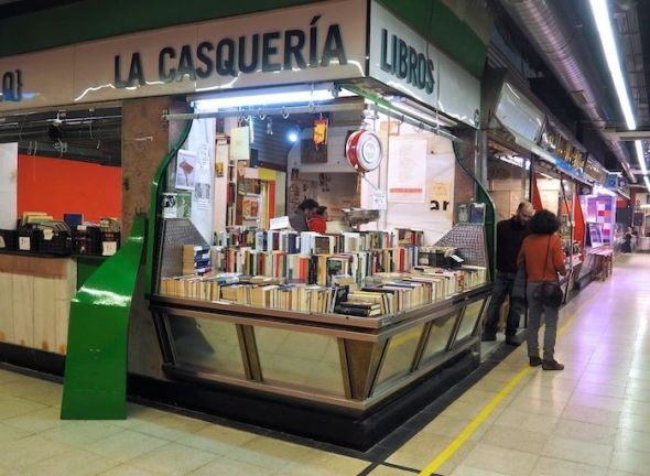 Librería La Casquería en Lavapiés.