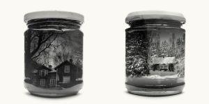 Dos obras de la serie Jarred & Displaced I de Christoffer Relander.