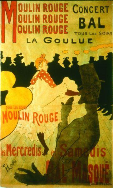 Henri de Toulouse-Lautrec, (1864-1901), Moulin Rouge, La Goulue, 1891. Colección particular. Cortesia Galerie Documents, París.