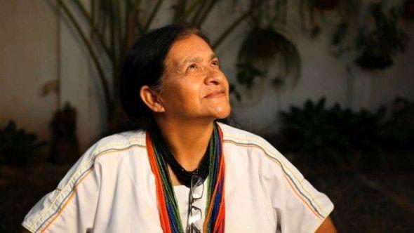 La líder de la etnia ahuaca de Colombia Leonor Zalabata.