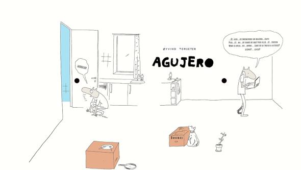 Doble página de 'Agujero'.