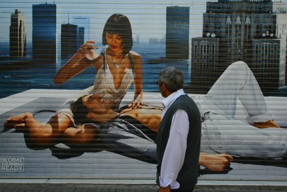 Mural publicitario en una céntrica calle de Estambul. Foto: j.Barandica /