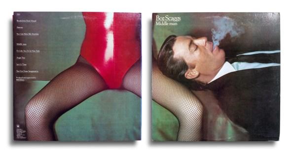 Total Records, Boz Scaggs, Middle Man, Columbia FC 36106, États-Unis, 1980. Fotografía de Guy Bourdin.