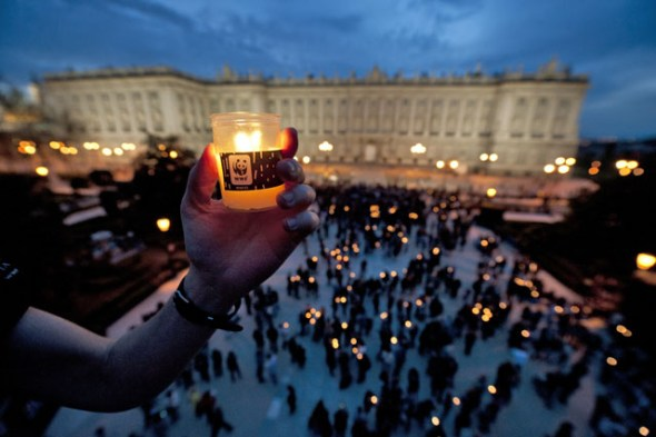 Celebración de la hora del planeta en 2012. Foto: WWF.