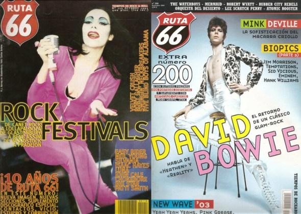 Pj Harvey y David Bowie han protagonizado portadas de 'Ruta 66'.