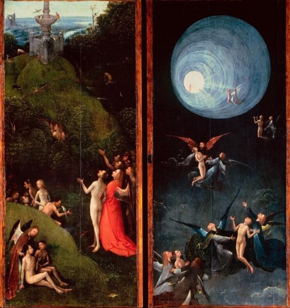 Visiones del Más Allá (tablas de un políptico) El Bosco El Infierno, 88,8 x 39,6 cm 1502-3 Venecia, Gallerie dell'Accademia