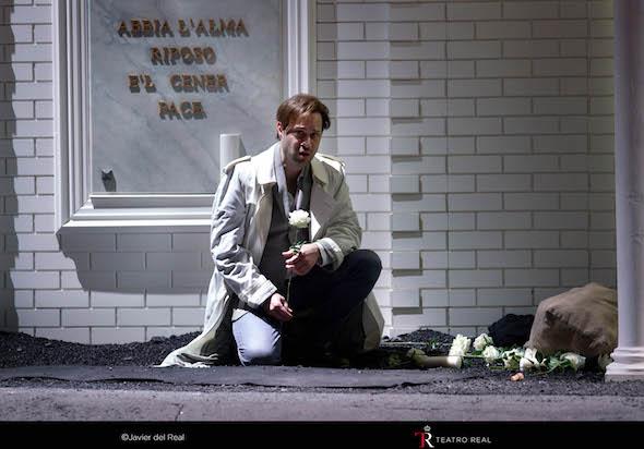 El contratenor Bejun Metha en el papel de Bertarido. Foto: Javier del Real.