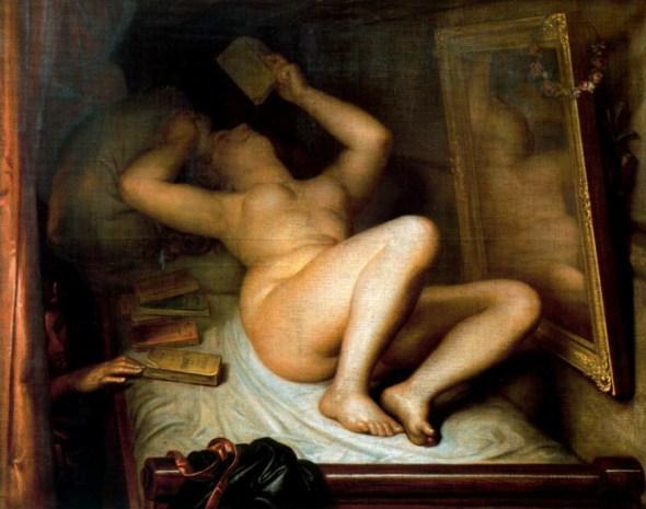 La lectora de novelas, de Antoine Wiertz, 1853,. Foto: creative commons.