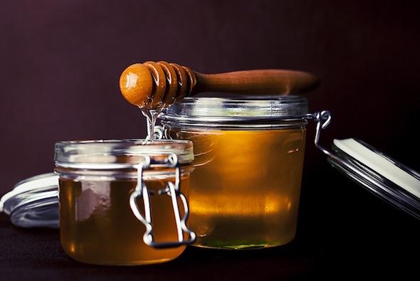 Tarros de miel. Foto: Pixabay.