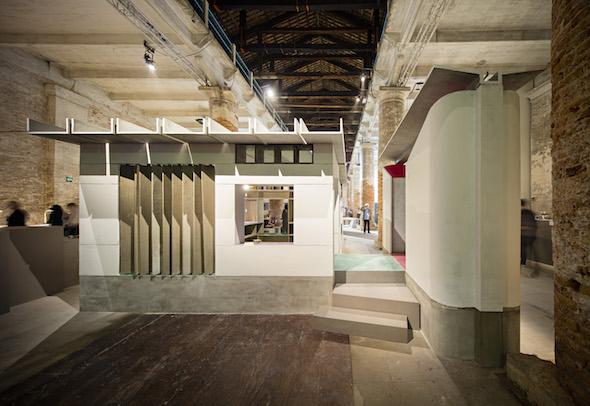Uno de los proyectos de la arquitecta en la bienal de Venecia. Foto: Javier Callejas.
