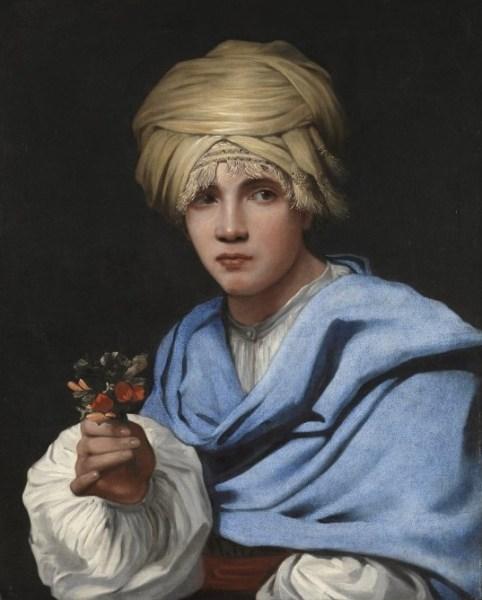 Michiel Sweerts. 'Muchacho con turbante y un ramillete de flores'.