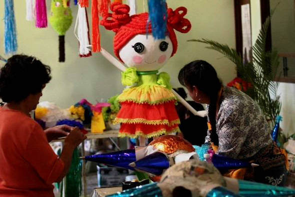 Feria de la piñata en la localidad mexicana de Texcoco.