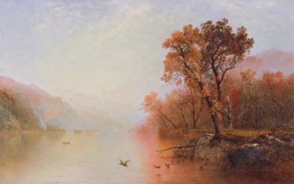 John Frederick Kensett El lago George Hacia 1860