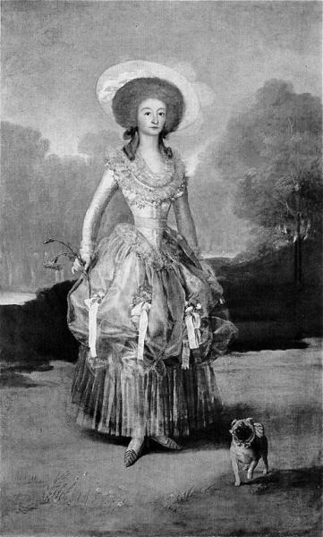Grabado de la Marquesa de Pontejos de Goya.