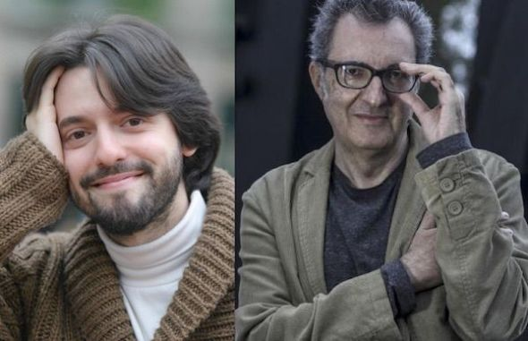 Los escritores Andrés Neuman (izquierda) y Eloy Tizón.