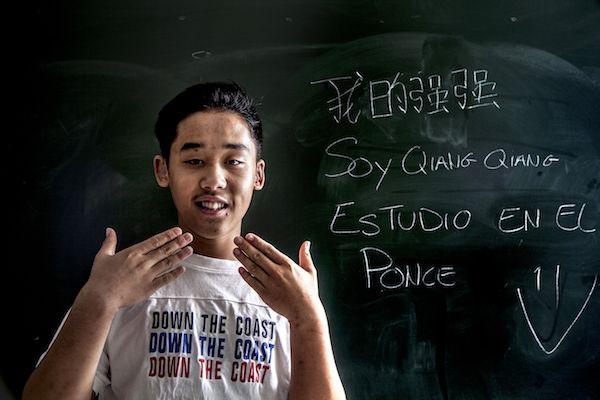 El joven chino Quiang Quiang es sordo. Retrato de Victoria Iglesias.