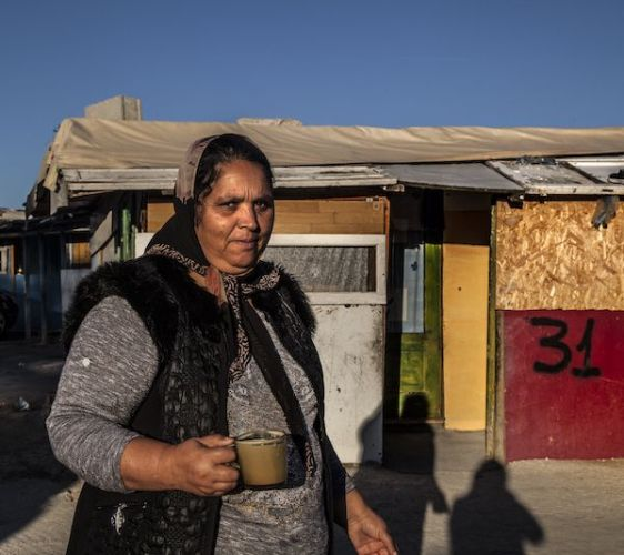 Una mujer habitante de El Gallinero. Foto: Victoria Iglesias.