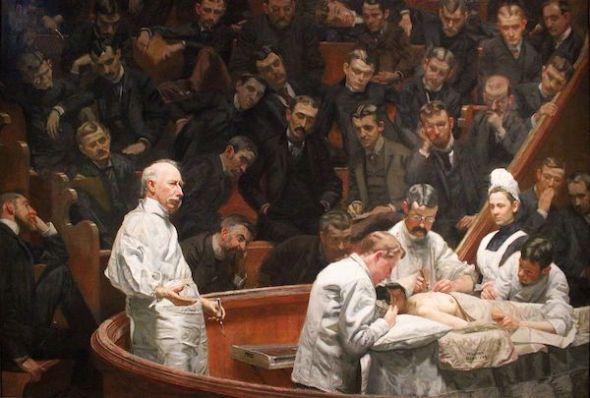 'La clínica Agnew', óleo de Thomas Eakins de 1889.