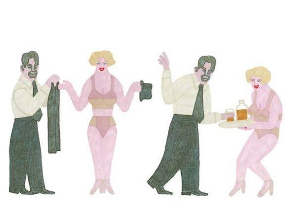 Una ilustración de Elisa Arguilé para la edición del libro 'Una rubia imponente' de Dorothy Parker